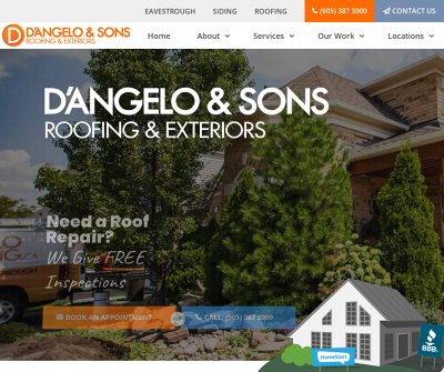 D'Angelo & Sons Roofing & Exteriors Ontario Canada Roofing Eavestrough Windows