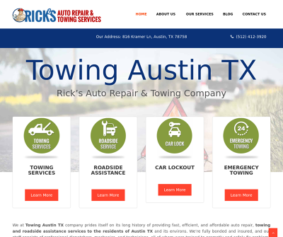 Rick's Auto Repair & Towing Services Austin,TX Towing Roadside Assistance