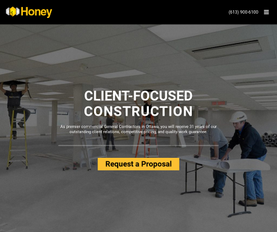Honey Ottawa, Canada Tenant Fit-Ups New Builds & Addition Glass Window & Door