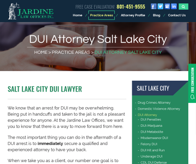 Jardine Law Offices P.C. Salt Lake City, UT Criminal Defense Personal Injury