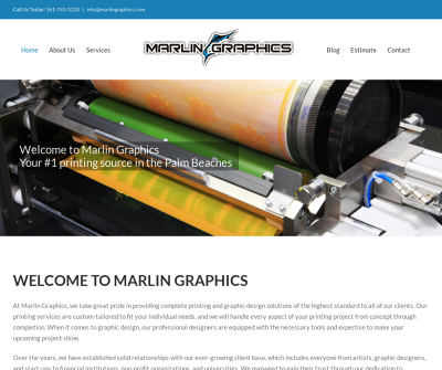 Marlin Graphics Jupiter,FL Binding Color Copying Comb Binding Cutting Design Docutech