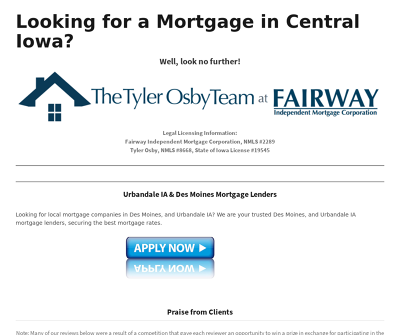 The Tyler Osby Team Urbandale,IA Mortgage Lender
