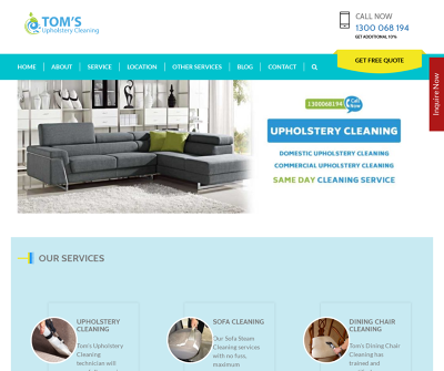 Toms Upholstery Cleaning Melbourne