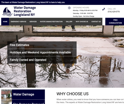 Water Damage Restoration Long Island