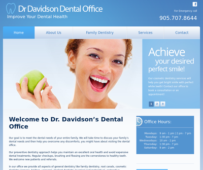Davidson Implants Family Dentistry, Restorative Dentistry, Implant Dentistry Ontario Canada