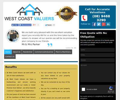 West Coast Valuers Perth, Australia Asset Register Valuations Capital Gains Tax
