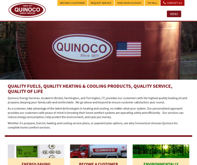 Quinoco Energy Services, Inc. Bristol,CT Heating Oil Diesel Fuel Propane Heating Service