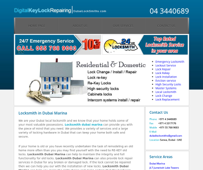 Locksmith Dubai Marina