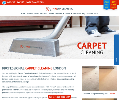 Expert Carpet Cleaning by Prolux Carpet Cleaning