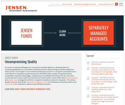 Jensen Investment Management, Inc.