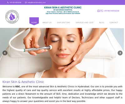 Kiran Skin and Aesthetic Clinic in Hyderabad