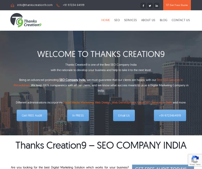 Thanks Creation9  - Best SEO Company Ahmedabad
