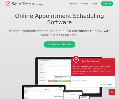 Set a Time Appointment Scheduling Software