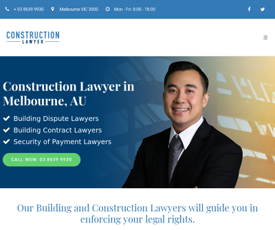 Construction Lawyer in Melbourne, AU