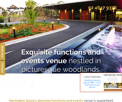 Harrington Grove Events | Functions and Events Venue