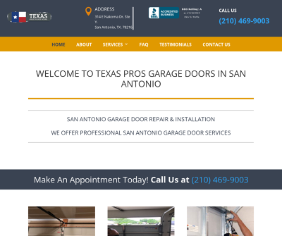 Texas Pros Garage Doors Of San Antonio