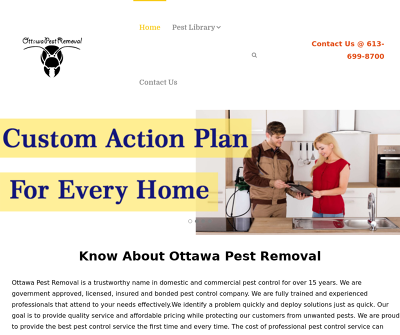 Ottawa Pest Removal| Control | Extermination Service