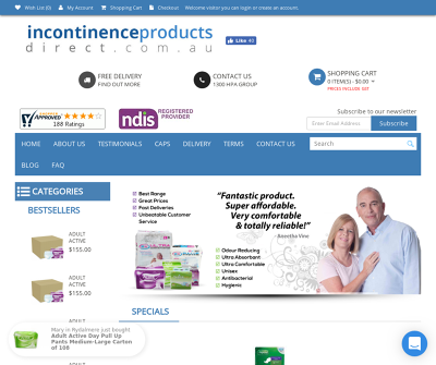 Incontinence Products Australia