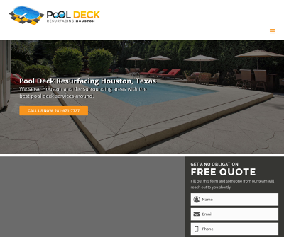Pool Deck Resurfacing Houston, TX