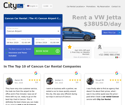 City Car Rental Cancún: Cancun Car Rental From $13/day