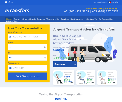 eTransfers: The BEST Cancun Airport Transportation from $3USD