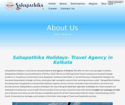 The Best Travel Agency in Kolkata|Sahapathika
