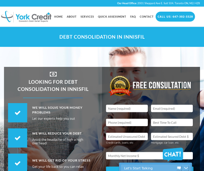 York Credit Services | Debt Consolidation And Relief Barrie