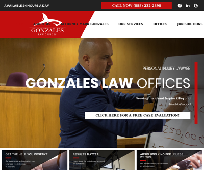 Gonzales Law Offices Fontana CA Personal Injury Attorney