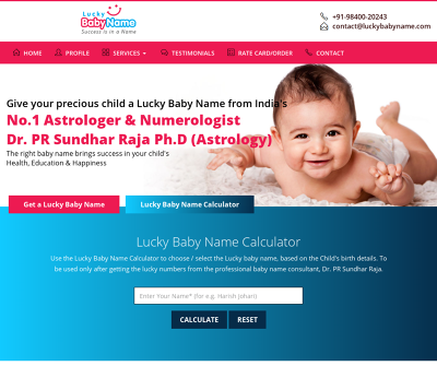 Boy/Girl Baby Names Based on Numerology – Lucky Baby Name