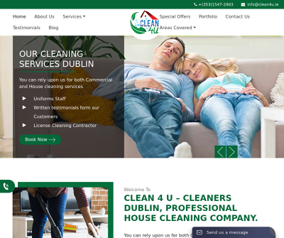 CLEAN 4 U – Cleaners Dublin,Professional House Cleaning Company