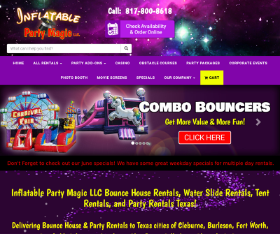 Bounce House, Water Slide, and Party Rentals in DFW Texas