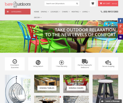 Bare Outdoors - Outdoor Furniture Melbourne