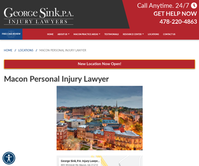 George Sink, P.A. Macon GA Personal Injury Lawyer