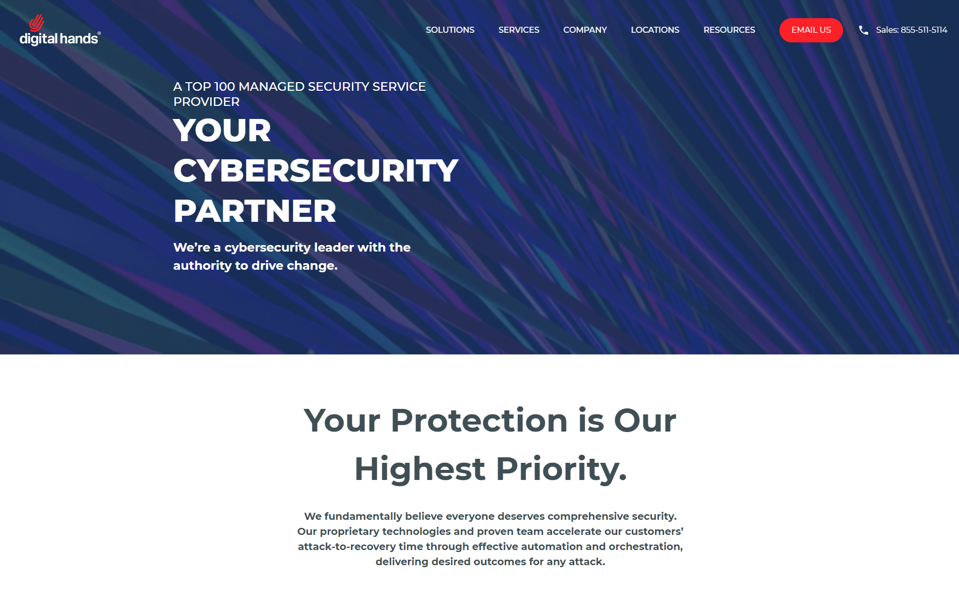 Digital Hands Enterprise-grade Cybersecurity Services and Support