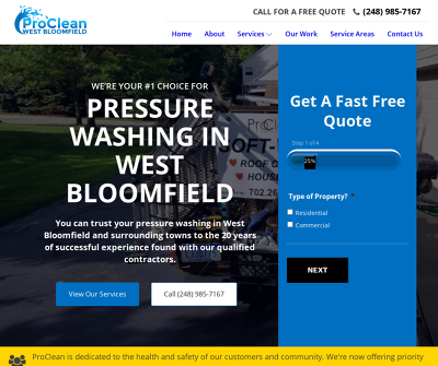 Pressure Washing West Bloomfield