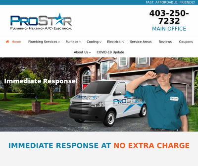 Prostar Plumbing, Heating A/C, Electrical | Company in Calgary
