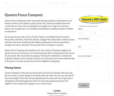 Queens Fence Company - Best Fencing Contractor in NYC