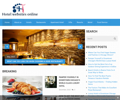 Hotel websites online