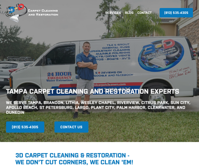 3D Carpet Cleaning and Restoration