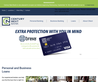 Century Next Bank | Personal, Business Banking