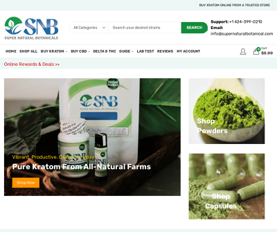SNB Super Natural Botanicals | Powders, Capsules, Pure Kratom