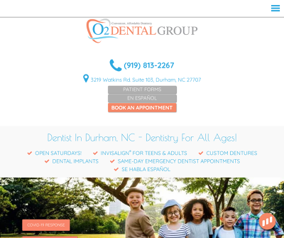 O2 Dental Group - Durham | Chapel Hill | Convenient, Affordable Dentistry