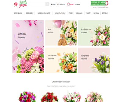 Handy Flowers | Birthday Flowers, Thank You Flowers, Anniversary Flowers, Sympathy Flowers