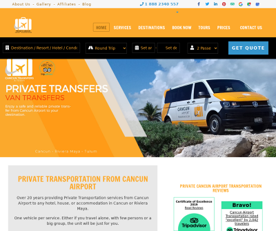 Private Cancun Airport Transportation - Group Transfers, Private Groups