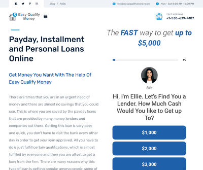 Easy Qualify Money - Payday Installment and Personal Loans Online