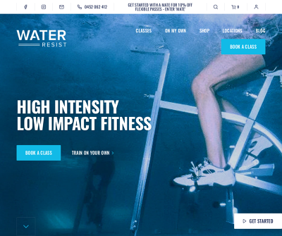 Water Resist - High Intensity Low Impact Fitness