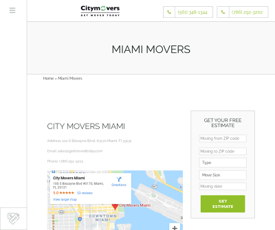 City Movers Miami - Local and Long Distance Moving