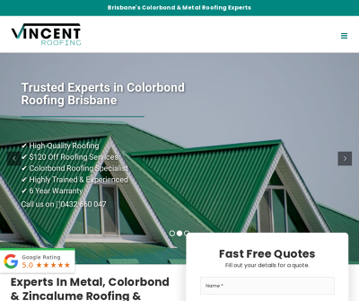 Vincent Roofing Bne Pty Ltd - Brisbane's Colorbond and Metal Roofing Experts