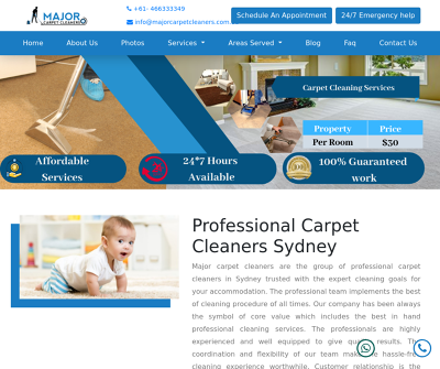 Major Carpet Cleaners, Professional Carpet Cleaners Sydney