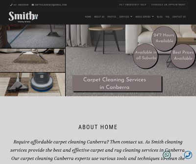 Smith Cleaning Services - Canberra - Carpet, Upholstery and Mattress Cleaning